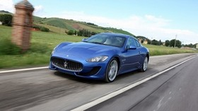 maserati granturismo sport, 2014, blue, speed - wallpapers, picture
