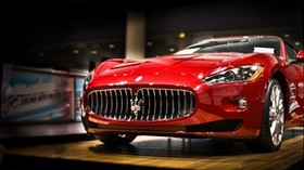 maserati, machine, red - wallpapers, picture