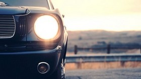 machine, black, headlight, light, front view - wallpapers, picture
