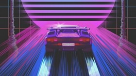 machine, retro, art, 80s, neon - wallpapers, picture