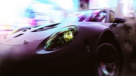 car, sports car, speed, smoke, neon, lights - wallpapers, picture