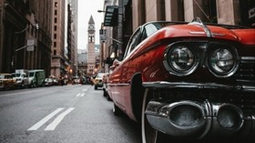 car, old, street, city, metropolis - wallpapers, picture