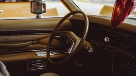 machine, vintage, salon, interior, steering wheel - wallpapers, picture
