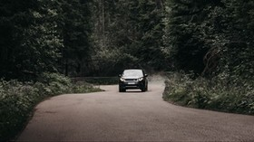 car, SUV, forest, road, mountains - wallpapers, picture