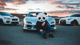 mask, panda, mazda, cars, racing - wallpapers, picture