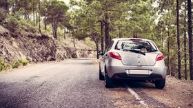 mazda 2, rear view, silver - wallpapers, picture