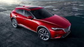 mazda, cx-4, red, side view - wallpapers, picture
