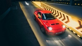 mazda rx-7, mazda, sports car, red, track, night, speed - wallpapers, picture