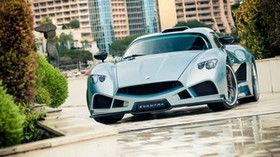mazzanti, evantra, car, style, front view - wallpapers, picture