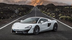 mclaren, 570gt, white, side view, road, horizon - wallpapers, picture