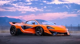mclaren, 570s, experimental, orange, side view - wallpapers, picture