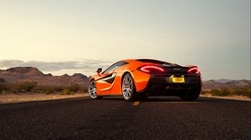 mclaren, 570s, rear view, orange - wallpapers, picture
