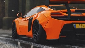 mclaren 650s, mclaren, sports car, orange, racing - wallpapers, picture