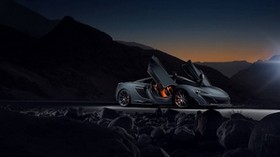 mclaren, 675lt, side view, night - wallpapers, picture
