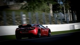 mclaren, motion, red, speed, blur - wallpapers, picture