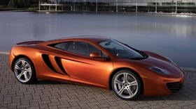 mclaren, mp4-12c, pool, car - wallpapers, picture