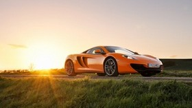 mclaren, mp4-12c, orange, front, mclaren, sun, glare - wallpapers, picture