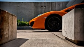 mclaren, mp4, 12c, orange, wheel - wallpapers, picture