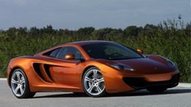 mclaren, mp4-12c, orange, side view - wallpapers, picture