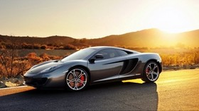 mclaren, mp4-12c, sport, car, supercar, sports, car, mclaren, gray, sunset - wallpapers, picture