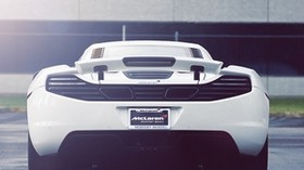 mclaren, mp4-12c, supercar, rear view - wallpapers, picture