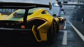 mclaren p1 gtr, mclaren p1, mclaren, sports car, rear view - wallpapers, picture