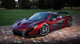 mclaren, p1, red, sports car, side view - wallpapers, picture