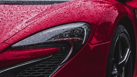 mclaren p1, mclaren, red, front view, lights, drops - wallpapers, picture