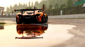 mclaren p1, mclaren, sports car, race, rear view - wallpapers, picture