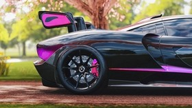 mclaren senna, mclaren, side view, sports car, racing, sakura - wallpapers, picture