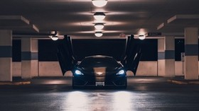 mclaren, sports car, parking, doors, lights - wallpapers, picture