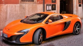 mclaren, car, orange, side view - wallpapers, picture