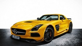 mercedes-benz, sls amg, yellow, car - wallpapers, picture