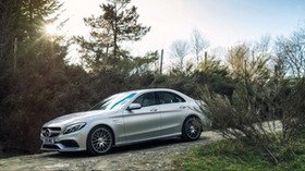 mercedes, amg, c 63 s, side view - wallpapers, picture
