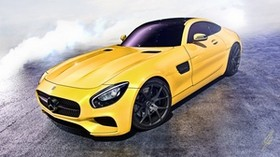 mercedes, amg, gt, yellow, side view - wallpapers, picture