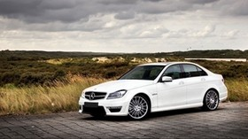 mercedes, auto, white, nature - wallpapers, picture