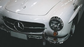 mercedes, car, bumper, headlights - wallpapers, picture
