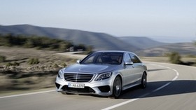 mercedes benz, 2014, car, gray, movement, speed - wallpapers, picture
