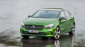 mercedes-benz, a 250, w176, green, front view - wallpapers, picture