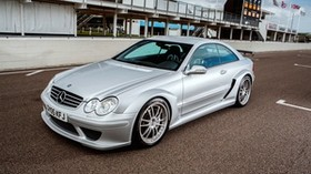 mercedes-benz, amg, clk-class, silver, side view - wallpapers, picture
