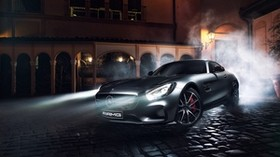mercedes-benz, amg, gt s, side view, night - wallpapers, picture