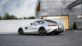 mercedes-benz, amg, gt, silver, side view, tuning - wallpapers, picture
