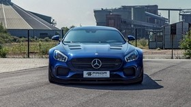 mercedes-benz, amg gt, blue, front view - wallpapers, picture