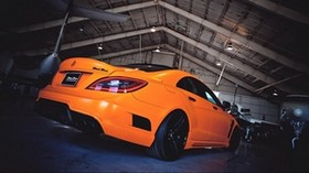 mercedes-benz, amg line, rear view, orange - wallpapers, picture