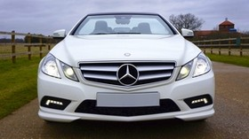 mercedes-benz, c63, amg, convertible, white, front view - wallpapers, picture