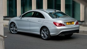 mercedes-benz, cla 180, rear view, silver - wallpapers, picture