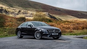 mercedes-benz, cls 350, black, side view - wallpapers, picture