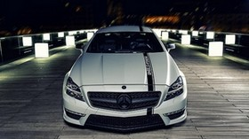 mercedes benz cls, mercedes benz, night, front view, bumper - wallpapers, picture