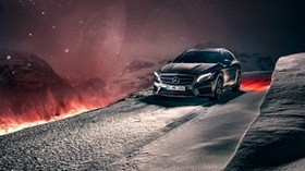 mercedes-benz, gla, crossover, winter, snow, concept - wallpapers, picture