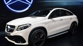 mercedes-benz gle, coupe, 2016, white, side view - wallpapers, picture